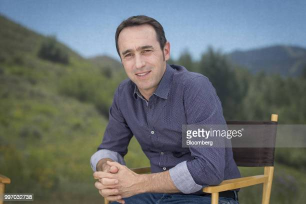 Marcos Galperin cofounder and chief executive officer of MercadoLibre Inc sits for a photograph after a Bloomberg Television interview during the...