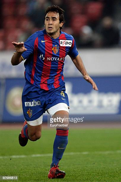 Marcos Gelabert of FC Basel during the Axpo Super League match between FC Zurich and FC Basel held on October 28, 2009 at the Letzigrund, in Zurich,...