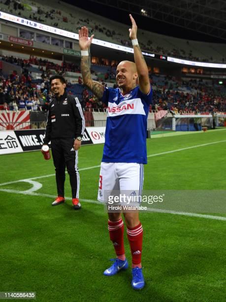 Marcos Junior of Yokohama F.Marinos reacts after the J.League J1 match between Urawa Red Diamonds and Yokohama F.Marinos at Saitama Stadium on April...