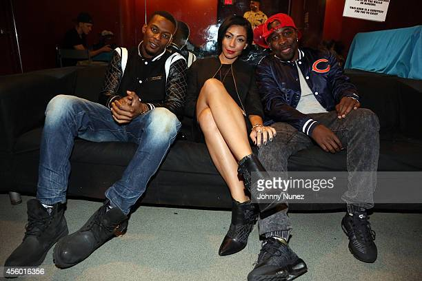 """Marcos """"Kosine On Da Beat"""" Palacios, Bridget Kelly, and Ernest """"Tuo"""" Clark attend S.O.B.'s on September 23, 2014 in New York City."""