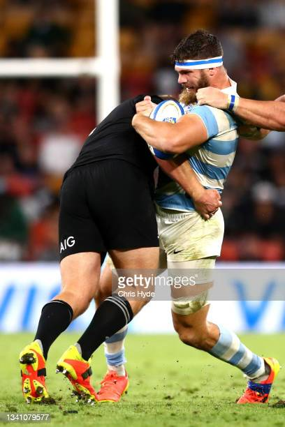 Marcos Kremer of Argentina charges forward during The Rugby Championship match between the Argentina Pumas and the New Zealand All Blacks at Suncorp...