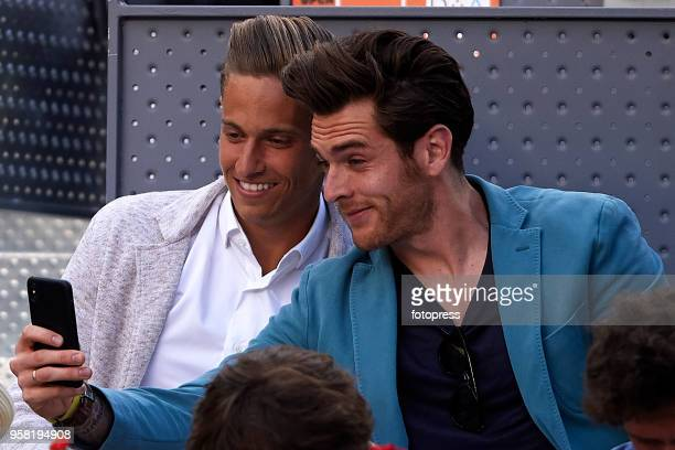 Marcos Llorente and Ibai Gomez attend day nine of the Mutua Madrid Open at La Caja Magica on May 13 2018 in Madrid Spain