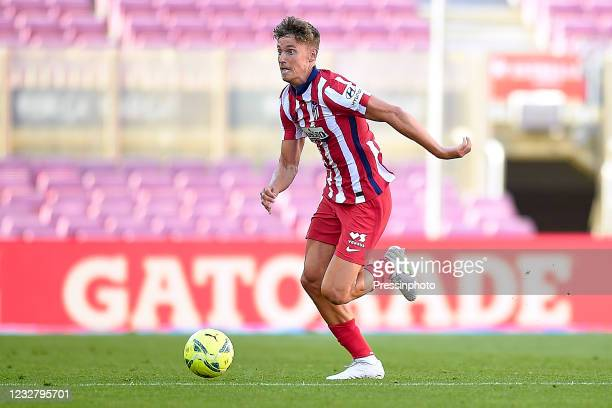 Marcos Llorente of Atletico de MadridKoke Resurreccion of Atletico de Madrid during the La Liga match between FC Barcelona and Atletico de Madrid...