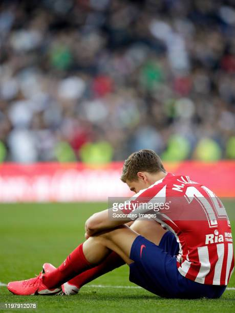 Marcos Llorente of Atletico Madrid during the La Liga Santander match between Real Madrid v Atletico Madrid at the Santiago Bernabeu on February 1...