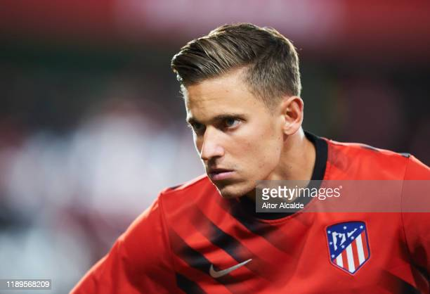 Marcos Llorente of Club Atletico de Madrid looks on during the Liga match between Granada CF and Club Atletico de Madrid at on November 23 2019 in...
