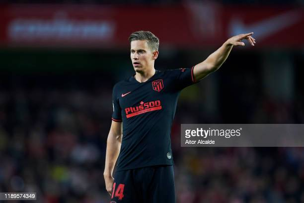 Marcos Llorente of Club Atletico de Madrid reacts during the Liga match between Granada CF and Club Atletico de Madrid at Estadio Nuevo Los Carmenes...
