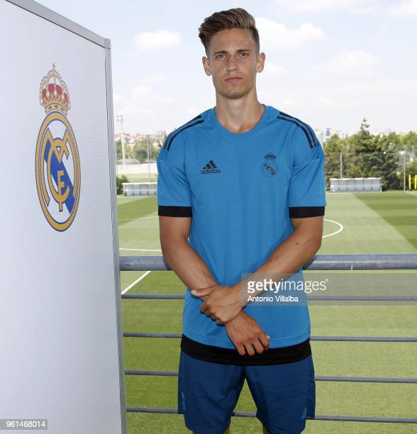 Marcos Llorente of Real Madrid during a media day at Valdebebas training ground on May 22 2018 in Madrid Spain