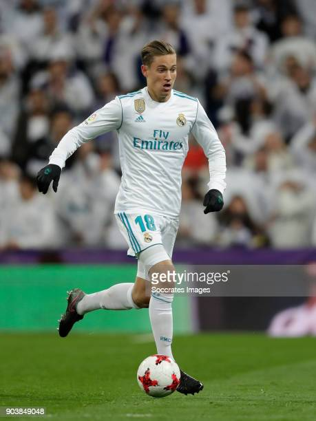 Marcos Llorente of Real Madrid during the Spanish Copa del Rey match between Real Madrid v Numancia on January 10 2018