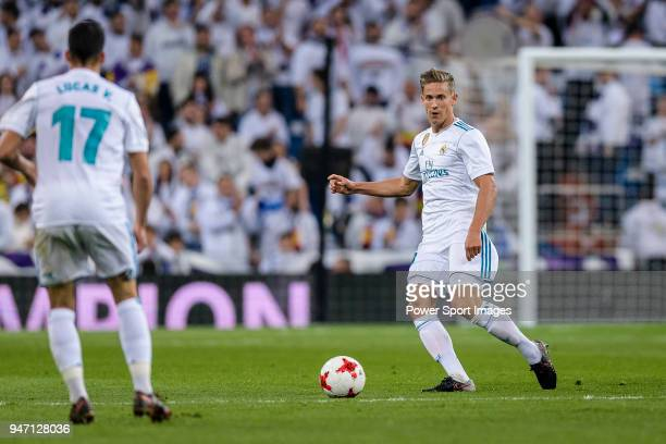Marcos Llorente of Real Madrid in action during La Copa del Rey 201718 match between Real Madrid vs CD Leganes at Estadio Santiago Bernabeu on 24...