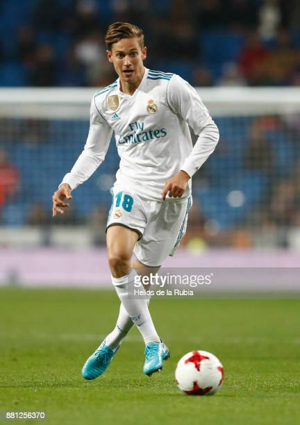 Marcos Llorente of Real Madrid in action during the Copa del Rey round of 32 second leg match between Real Madrid CF and Fuenlabrada at Estadio...