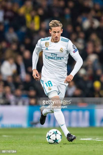 Marcos Llorente of Real Madrid in action during the Europe Champions League 201718 match between Real Madrid and Borussia Dortmund at Santiago...
