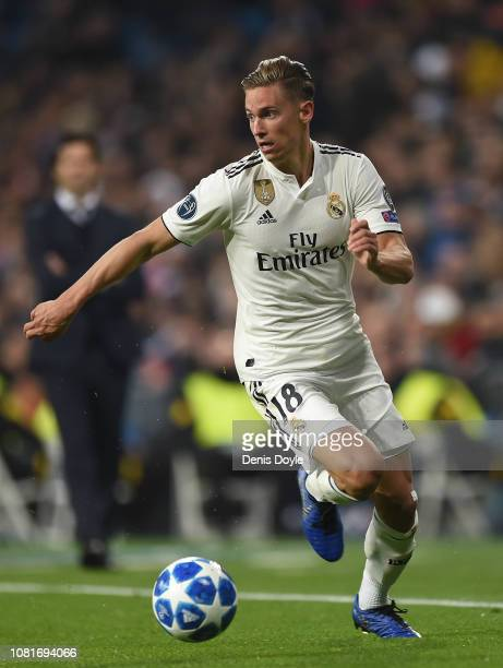 Marcos Llorente of Real Madrid in action during the UEFA Champions League Group G match between Real Madrid and CSKA Moscow at estadio Santiago...