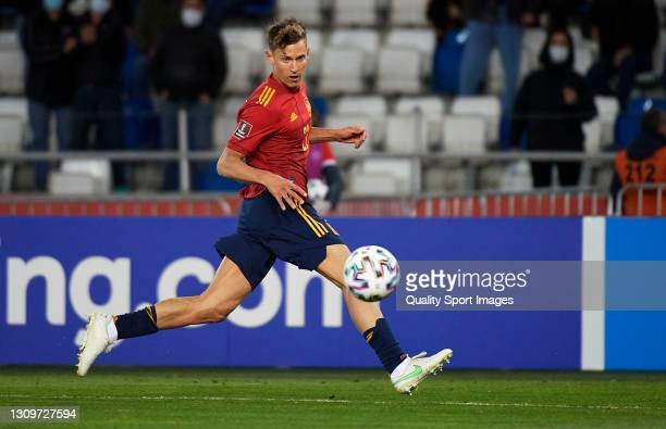 Marcos Llorente of Spain in action during the FIFA World Cup 2022 Qatar qualifying match between Georgia and Spain at Boris Paichadze National...