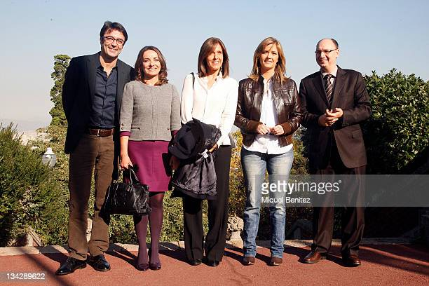 Marcos Lopez Pepa Bueno Ana Blanco Maria Casado and Fran Llorente attend the press conference for the 58th Ondas Awards 2011 at the Palauet Albeniz...