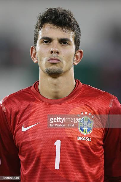 Marcos of Brazil during the Group A FIFA U17 World Cup match between Honduras and Brazil at Ras Al Khaimah Stadium on October 23 2013 in Ras al...
