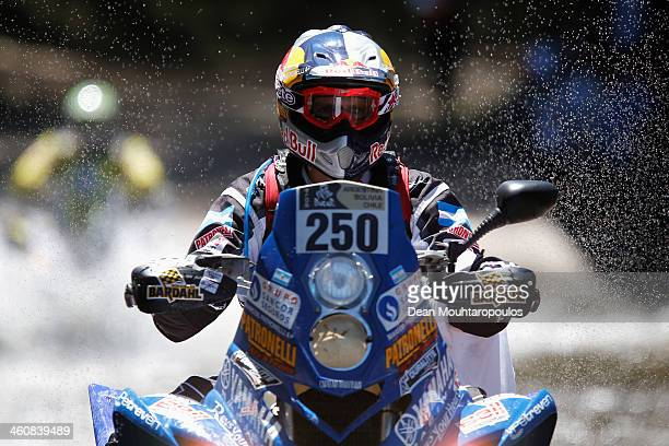 Marcos Patronelli of Argentina and Yamaha Racing Argentina competes on Day 1 of the Dakar Rally 2014 on January 5 2014 in Santa Rosa de Calamuchita...