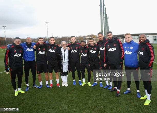 Marcos Rojo Lee Grant Matteo Darmian Ander Herrera Diogo Dalot Fred Andreas Pereira Chris Smalling Marouane Fellaini Paul Woolston and Ashley Young...