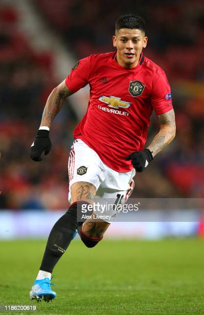 Marcos Rojo of Manchester United during the UEFA Europa League group L match between Manchester United and Partizan at Old Trafford on November 07,...