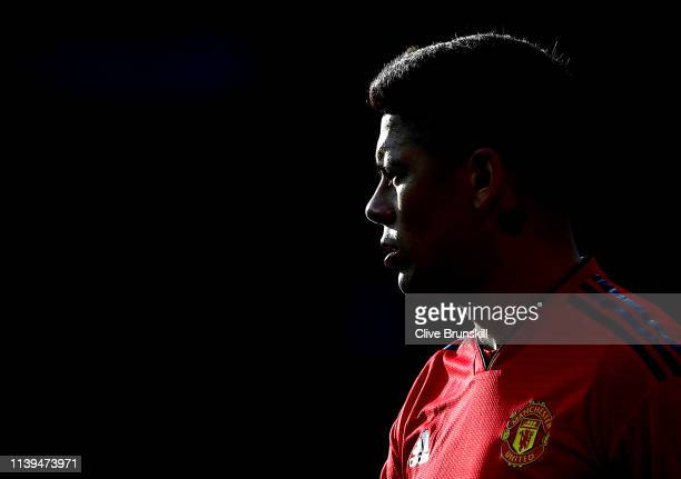 Marcos Rojo of Manchester United in action during the Premier League match between Manchester United and Watford FC at Old Trafford on March 30, 2019...