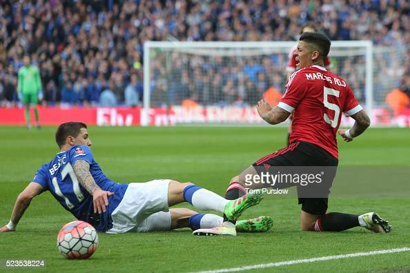 Marcos Rojo Of Manchester United In Action With Muhamed