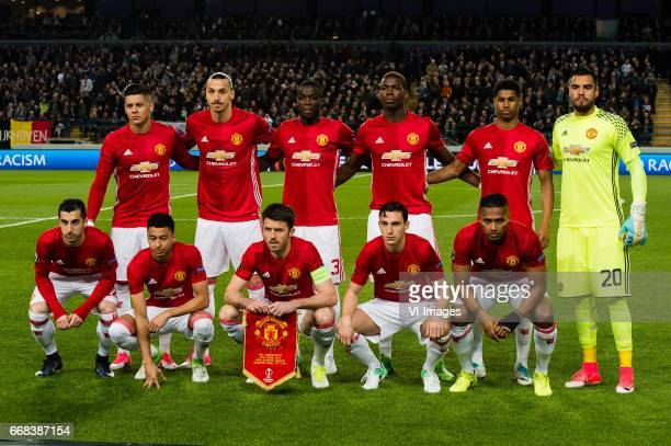 Marcos Rojo of Manchester United Zlatan Ibrahimovic of Manchester United Eric Bailly of Manchester United Paul Pogba of Manchester United Marcus...