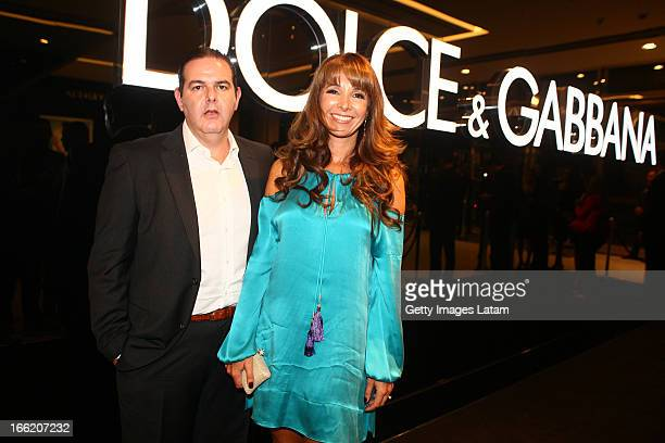 79ca58ba224de Marcos Rotemberg and Adriana Rotemberg attends the DolceGabbana cocktail  party on April 9 2013 in Sao