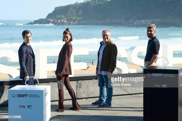 "Marcos Ruiz, actress Begoña Vargas, director Daniel Monzon and Chechu Salgado attend ""Las Leyes de La Frontera"" photocall during 69th San Sebastian..."