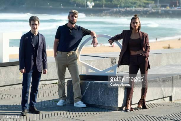 "Marcos Ruiz, Chechu Salgado and actress Begoña Vargas attend ""Las Leyes de La Frontera"" photocall during 69th San Sebastian International Film..."