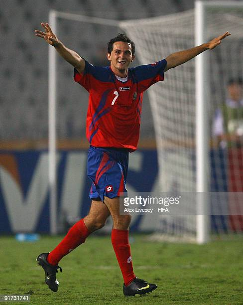 Marcos Urena of Costa Rica celebrates after scoring the winning goal during the FIFA U20 World Cup Quarter Final match between United Arab Emirates...