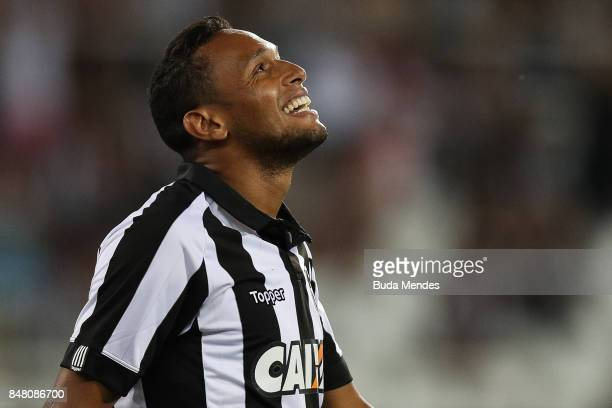 Marcos Vinicius of Botafogo looks on during a match between Botafogo and Santos part of Brasileirao Series A 2017 at Nilton Santos Stadium on...