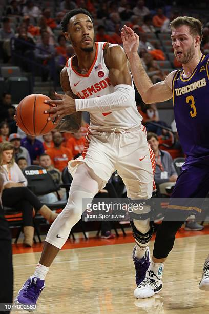 Marcquise Reed guard of Clemson during a college basketball game between the Lipscomb Bisons and the Clemson Tigers on December 30 2018 at Littlejohn...