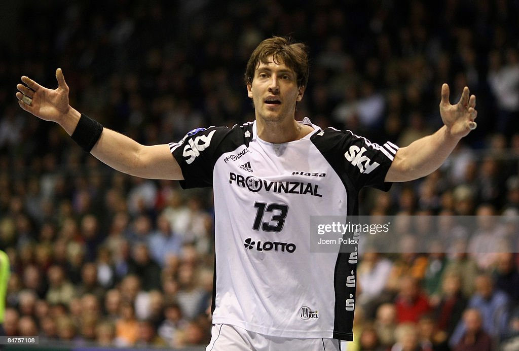 Marcus Ahlm of Kiel is seen during the Toyota Handball Bundesliga match between SC Magdeburg and THW Kiel at the Boerdeland hall on February 10, 2009 in Magdeburg, Germany.
