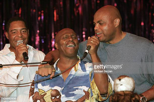 Marcus Allen Arthur Hervey and Charles Barkley during American Century Golf Championship Party at Harrah's Casino and Vex Night Club July 16 2006 at...