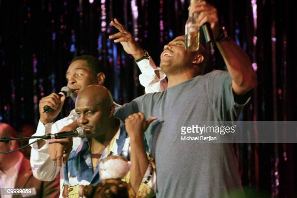 Marcus Allen, Arthur Hervey and Charles Barkley during American Century Golf Championship Party at Harrah's Casino and Vex Night Club - July 16, 2006...