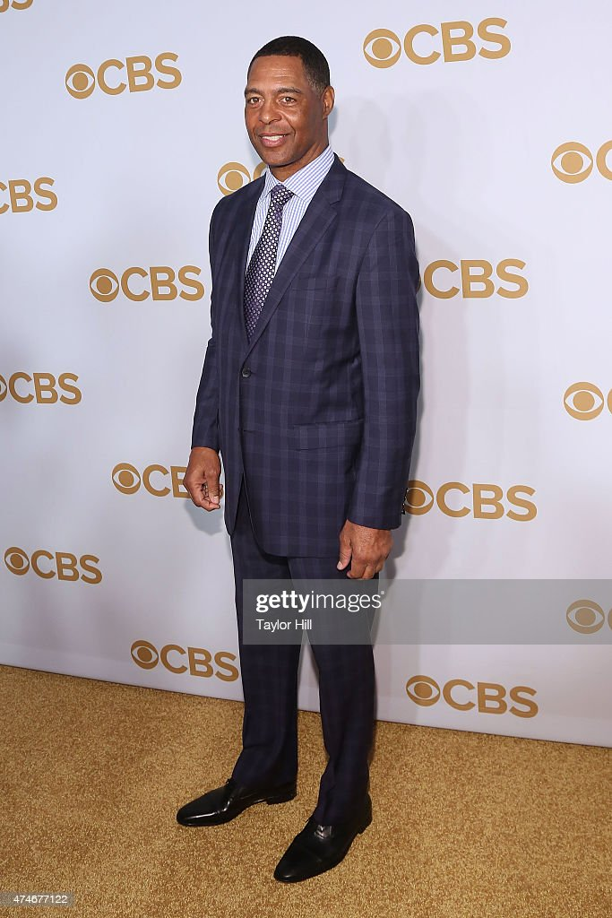 Marcus Allen attends the 2015 CBS Upfront at The Tent at Lincoln Center on May 13, 2015 in New York City.