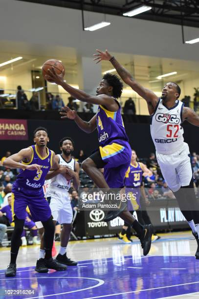 Marcus Allen of the South Bay Lakers goes to the basket against the Capital City GoGo on December 13 2018 at UCLA Heath Training Center in El Segundo...