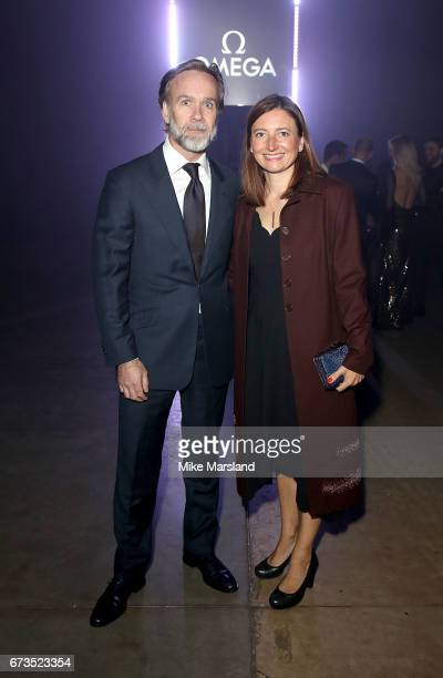 Marcus and Jane Wareing attend the OMEGA 'Lost In Space' dinner to celebrate the 60th anniversary of the OMEGA Speedmaster which has been worn by...