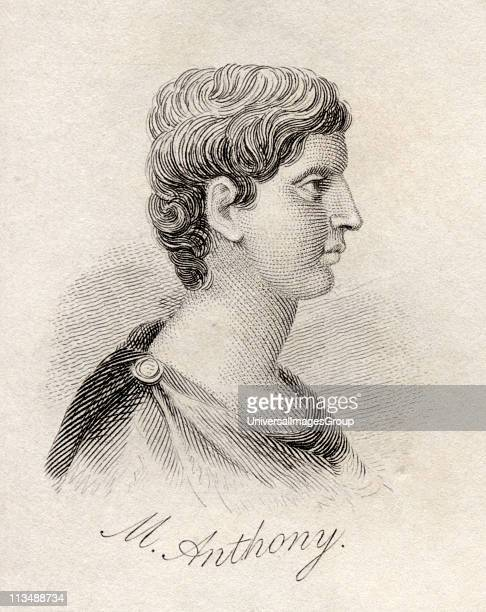 Marcus Antonius 83BC 30BC aka Mark Antony Roman politician and general From the book Crabbs Historical Dictionary published 1825