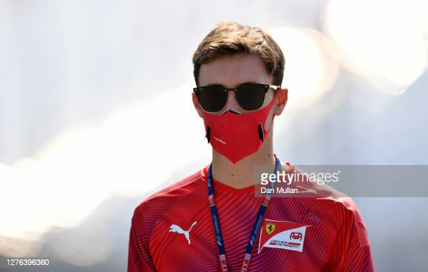 Marcus Armstrong of New Zealand and ART Grand Prix walks the track during previews ahead of the Formula 2 Championship at Sochi Autodrom on September...