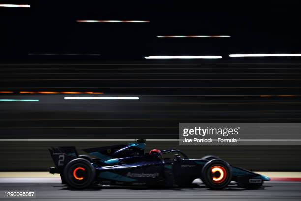 Marcus Armstrong of New Zealand and DAMS drives during Day One of Formula 2 Testing at Bahrain International Circuit on December 08, 2020 in Bahrain,...