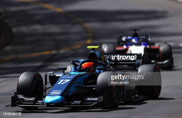 Marcus Armstrong of New Zealand and DAMS drives during Sprint Race 1 of Round 2:Monte Carlo of the Formula 2 Championship at Circuit de Monaco on May...