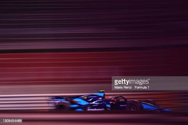 Marcus Armstrong of New Zealand and DAMS drives on track during Sprint Race 2 of Round 1:Sakhir of the Formula 2 Championship at Bahrain...