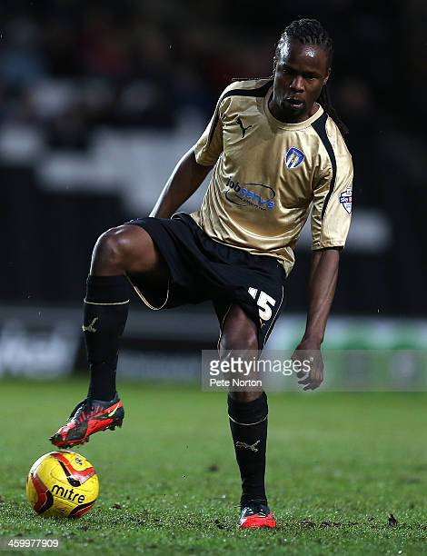 Marcus Bean of Colchester United in action during the Sky Bet League One match between Milton Keynes Dons and Colchester United at Stadium MK on...
