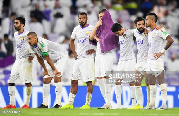 Marcus Berg of Al Ain looks dejected as he misses a penalty in the shoot out during the FIFA Club World Cup first round play-off match between Al Ain...