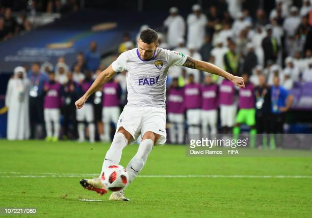 Marcus Berg of Al Ain misses a penalty in the shoot out during the FIFA Club World Cup first round playoff match between Al Ain FC and Team...