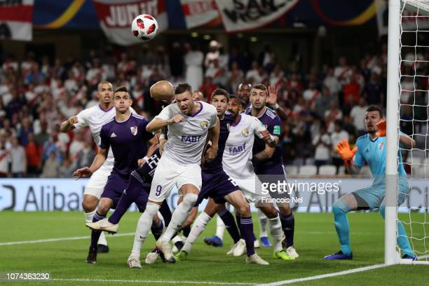 Marcus Berg of Al Ain scores his team's first goal during the FIFA Club World Cup UAE 2018 Semi Final Match between River Plate and Al Ain at Hazza...
