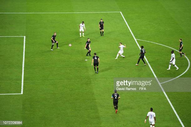 Marcus Berg of Al Ain scores his team's third goal during the FIFA Club World Cup first round play-off match between Al Ain FC and Team Wellington FC...