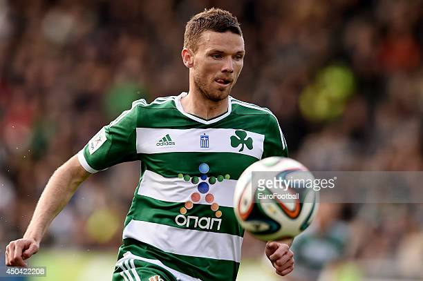Marcus Berg of Panathinaikos in action during the Greek Cup semifinal match between Panathinaikos FC and OFI Crete FC at the Apostolos Nikolaidis...