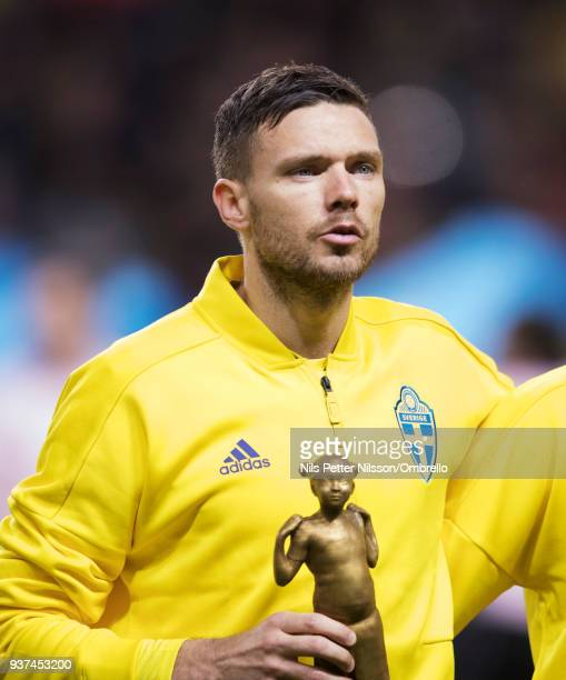 Marcus Berg of Sweden ahead of the International Friendly match between Sweden and Chile at Friends arena on March 24 2018 in Solna Sweden