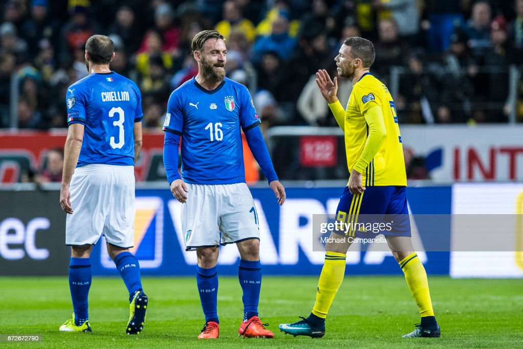 Sweden v Italy - FIFA 2018 World Cup Qualifier Play-Off: First Leg : Nieuwsfoto's